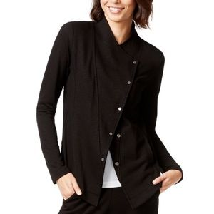 Eileen Fisher Organic Asymmetrical Snap Jacket